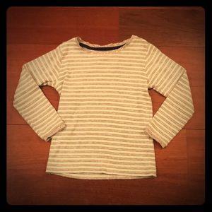 Mini Boden Grey/White Pointelle Tshirt